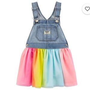 Oshkosh | Rainbow Tulle Jean Dress - 9M